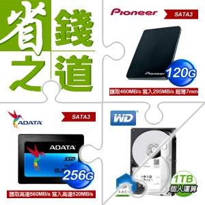 ☆自動省★ 先鋒 APS-SL2-N 120GB SSD+威剛 Ultimate SU800 256G S3 SSD+WD 1TB 3.5吋硬碟《藍標》+希捷 新梭魚 1TB 3.5吋硬碟《裝機版》