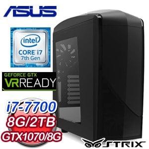 華碩 HIGHER【幻影刀客】Intel i7-7700 獨顯電玩機