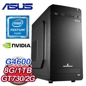 華碩 MANAGER【奮發向上II】Intel G4600 獨顯商務電腦