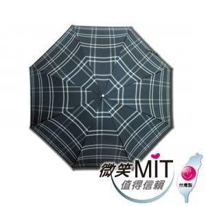 【微笑MIT】張萬春洋傘-27直立防風紳士傘 AT1016(綠格紋)