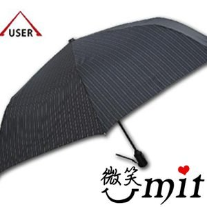 【微笑MIT】張萬春洋傘-YAND輕量自動開收傘 T3014(黑直紋)