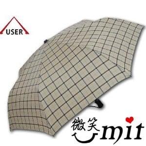 【微笑MIT】張萬春洋傘-YAND輕量自動開收傘 T3014(藏青格紋)
