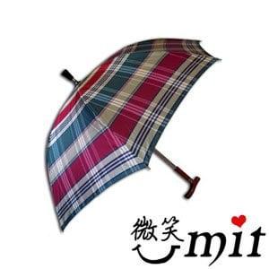 【微笑MIT】張萬春洋傘-日規登山傘 T1013(紫紅格紋)