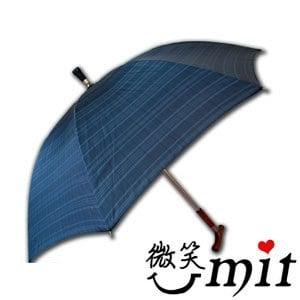 【微笑MIT】張萬春洋傘-日規登山傘 T1013(灰藍格紋)