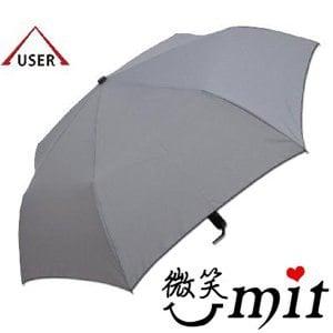 【微笑MIT】張萬春洋傘-奈米超撥水自動開收傘 AT3011(灰)