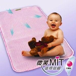 【微笑MIT】自然風 嬰兒床空氣軟墊(粉紅/1入)