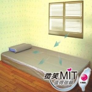 【微笑MIT】自然風 節能透氣床墊 單人床(米黃)