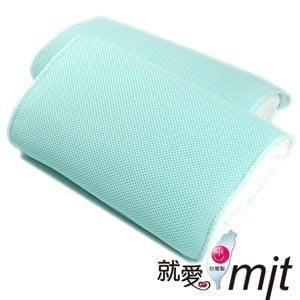 【微笑MIT】自然風 節能透氣防蹣帎頭套(水藍/2入)