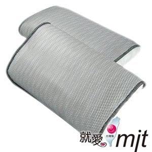【微笑MIT】自然風 節能透氣防蹣帎頭套(銀灰/2入)