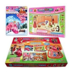 ~孩子國~換裝寶貝魔法廚房新裝發表磁貼遊戲組