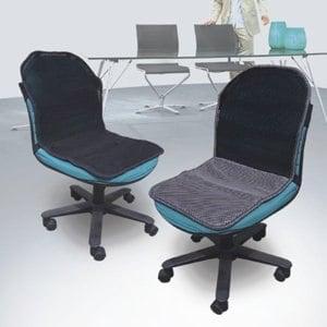【微笑MIT】自然風 舒適型辦公椅透氣坐墊(銀黑/黑)