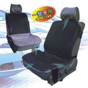 【微笑MIT】自然風 舒適型節能汽車透氣坐墊(銀黑/黑)