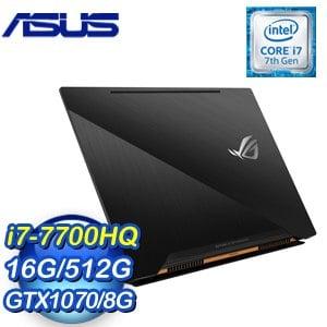 ASUS 華碩 GX501VS-0031A7700HQ 15吋筆記型電腦 (黑/i7-7700HQ/8G*2/512G/GTX1070/Win10)