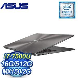 ASUS 華碩 UX430UN-0071A7500U 14吋筆記型電腦 (灰)