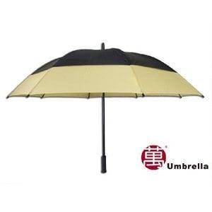 【張萬春洋傘】31吋雙層高爾夫球傘 AT1017(黑卡其)