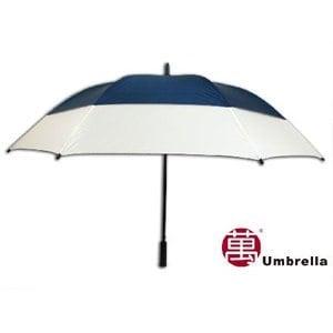 【張萬春洋傘】31吋雙層高爾夫球傘 AT1017(藍白)