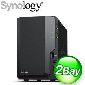 Synology 群暉 DiskStation DS218+ 2Bay NAS 網路儲存伺服器