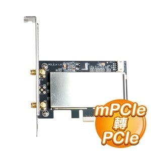 EQ Mini PCI~E轉PCI~E轉接卡 帶天線