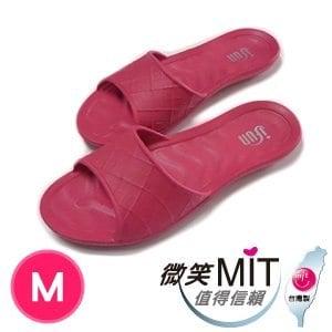 【微笑MIT】ifun 日式方格紋室內拖(桃/M)