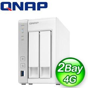 QNAP 威聯通 TS-231P2-4G 2Bay NAS 網路儲存伺服器