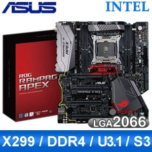 ASUS 華碩 RAMPAGE VI APEX X299 LGA2066主機板《原廠註冊五年保固》