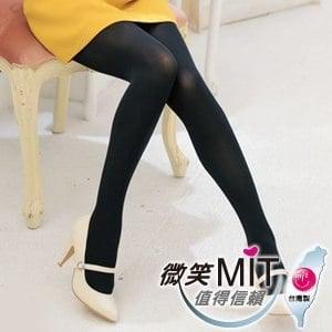 【微笑MIT】華貴絲襪 90丹魔力魅彩超彈性保暖褲襪 2雙(黑)