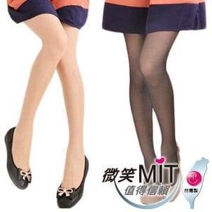 【微笑MIT】華貴絲襪 纖腿適壓三點強化超彈性絲襪 12雙(膚)