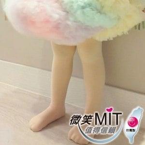 【微笑MIT】華貴絲襪 超細棉絨兒童韻律襪 2雙(粉色)M~L(6~12歲)