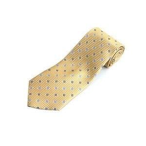 FANYA 全真絲手工縫製紳士領帶-黃色