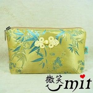【微笑MIT】雅人手作 織錦大萬用袋(Y101-0012/綠牡丹)
