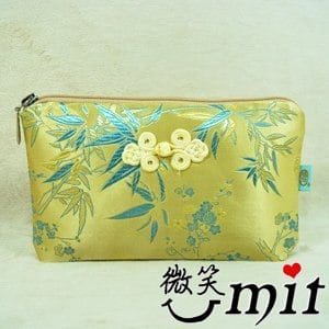 【微笑MIT】雅人手作 織錦大萬用袋(Y101-0012/泥金四季花)