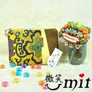 【微笑MIT】雅人手作 織錦雙色包(Y101-0218/金底龍)