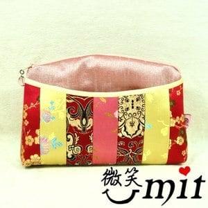 【微笑MIT】雅人手作 織錦留香皺拼布包(Y101-0293/紫仙女花)