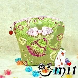 【微笑MIT】雅人手作 織錦立體零錢包(Y101-0388/綠梅)