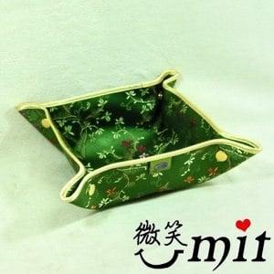 【微笑MIT】雅人手作 織錦加大百寶置物盒(Y105-0242/綠牡丹)