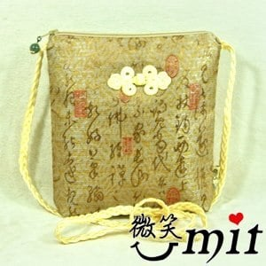 【微笑MIT】雅人手作 文字斜背袋(Y101-0275/文字灰)