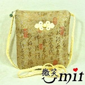 【微笑MIT】雅人手作 文字斜背袋(Y101-0275/文字金)