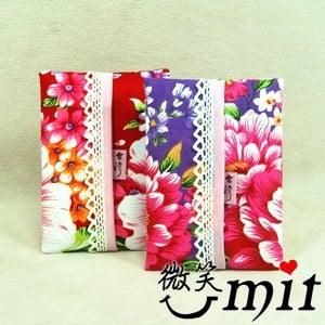 【微笑MIT】雅人手作 花布面紙包(Y101-0339/粉花)