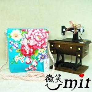 【微笑MIT】雅人手作 花布斜背袋(Y101-0341/紫花)