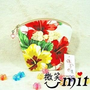 【微笑MIT】雅人手作 花布立體零錢包(Y101-0349/紫花)