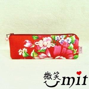 【微笑MIT】雅人手作 花布眼鏡袋(Y101-0380/藍花)