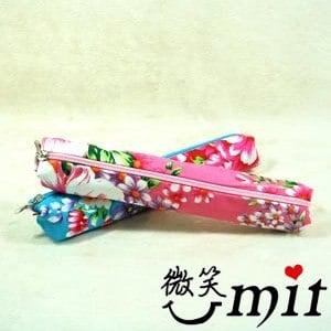 【微笑MIT】雅人手作 花布筆袋(Y101-0382/紫花)