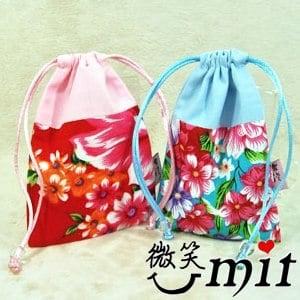 【微笑MIT】雅人手作 花布雙色手機袋(Y101-0385/紫花)