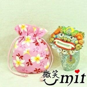 【微笑MIT】雅人手作 花布小束袋(Y101-0386/粉花)