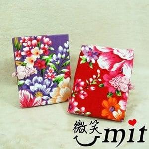 【微笑MIT】雅人手作 花布證件夾(Y101-0387/紅花)