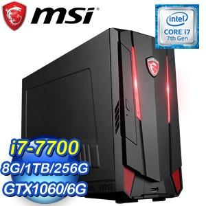 MSI 微星 Nightblade MI3 VR7RC-025TW(i7-7700/8G/256GB+1TB/GTX1060 6G/Win10)桌上型電腦