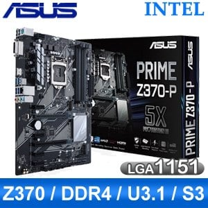 ASUS 華碩 PRIME Z370-P LGA1151 主機板《原廠註冊四年保固》