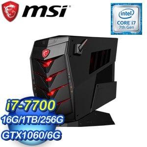 MSI 微星 Aegis 3 VR7RC-029TW(i7-7700/16G/256GB+1TB/GTX1060 6G/Win10) 桌上型電腦