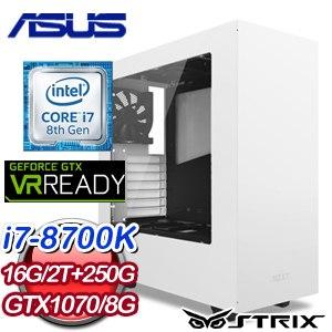 華碩 GAMER【鬼哭神號】Intel i7-8700K 六核心 電競VR虛擬實境機