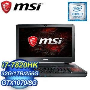 MSI 微星 GT83VR 7RE-274TW(i7-7820HK/32G/GTX1070/256G+1TB/WIN10 PRO) 18.4吋筆記型電腦